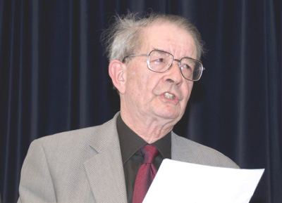 Philip Bryant, first Director of UKOLN, speaking at the 30th Anniversary of UKOLN in 2008 at the British Library